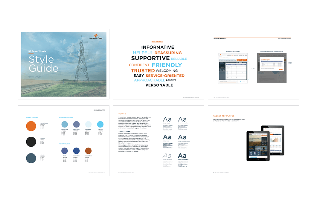 NB Power visual style guide design 2
